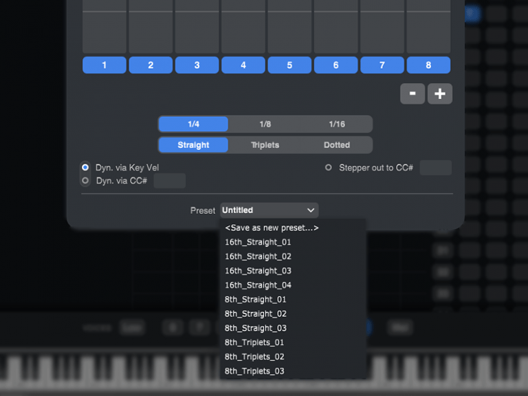 There are presets for plugins as well.